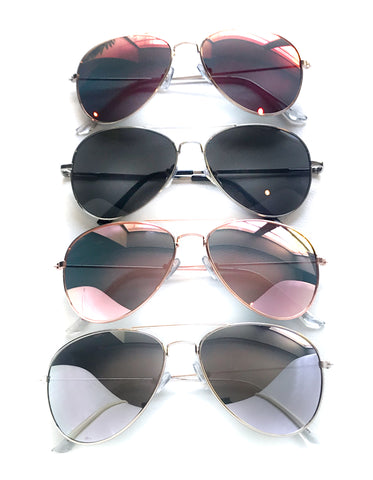 Curved Aviator Sunglasses