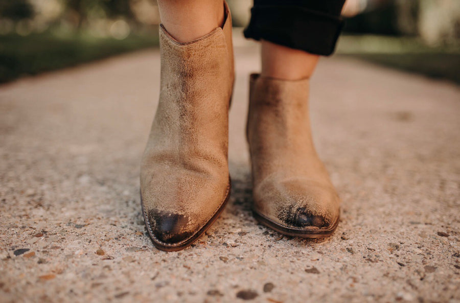 Leather Nude Vintage Boot