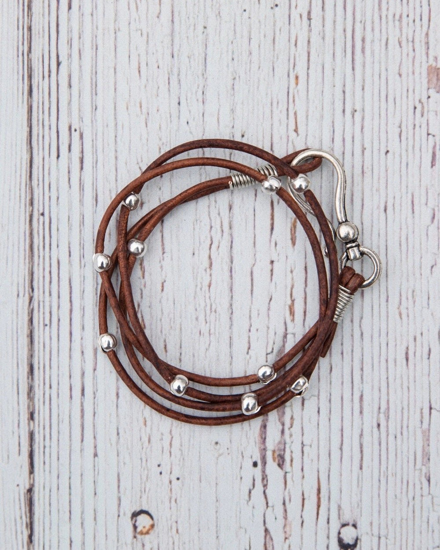 Double Leather Hook Wrap