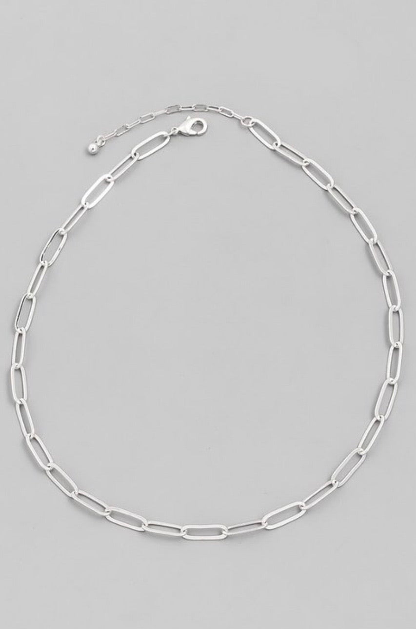 Flat Link Necklace