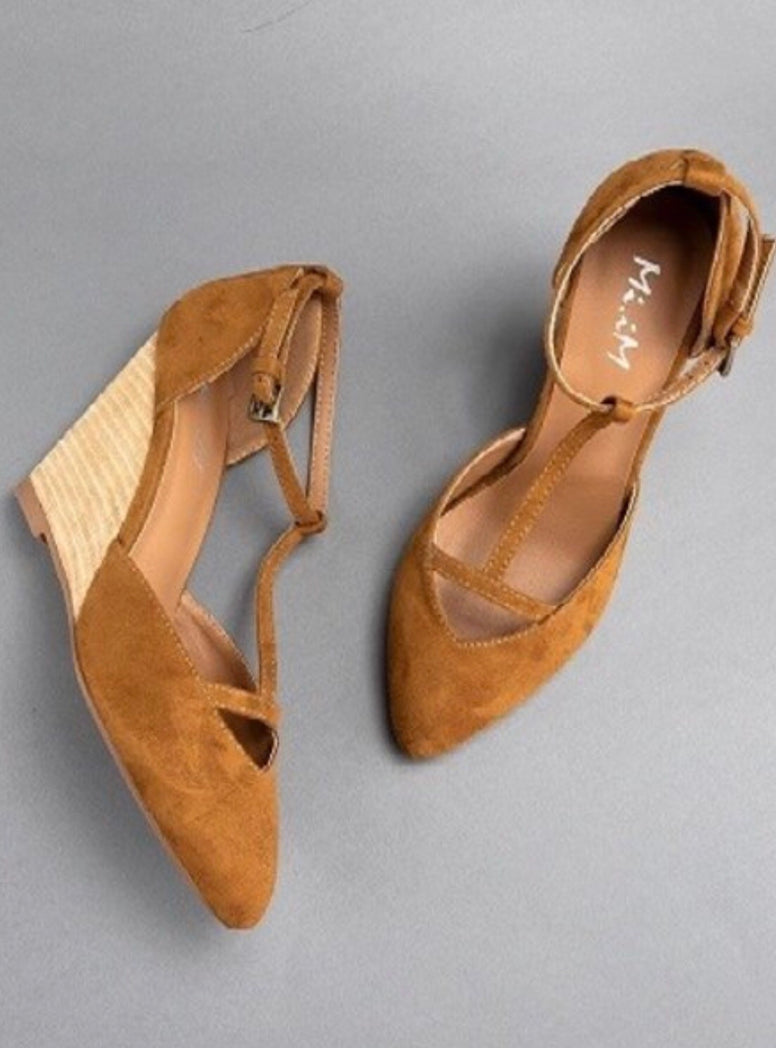 Brown Suede Wedge