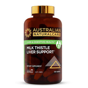 Milk Thistle Liver Support 13000mg 120 Tablets. Herbal Extract for Healthy Liver Function, Cleanse and Detox, Made from Australian Silybum Marianum Extract.