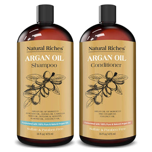 Moroccan Argan Oil Organic Shampoo & Conditioner Set Sulfate Free