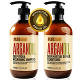 Moroccan Argan Oil Shampoo and Conditioner SLS Sulfate Free Organic Gift Set