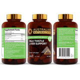 Milk Thistle Liver Support . Herbal Extract for Healthy Liver Function, Cleanse and Detox