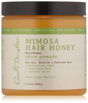 Mimosa Hair Honey Shine Pomade For Dry Hair and Textured Hair, with Shea Butter and Cocoa Butter, 8 fl oz