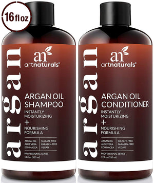 ArtNaturals Organic Moroccan Argan Oil Shampoo and Conditioner Set - (2 x 16 Fl Oz / 473ml)