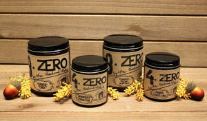 4.ZERO Hardwood Wick Amber Jar Candle- Fall Collection - 3 Pack