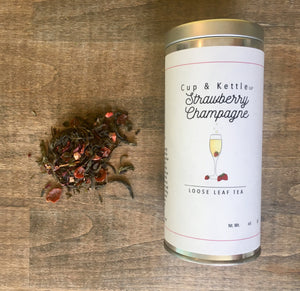 Strawberry Champagne Tea - 3 oz. Tin