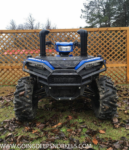 Polaris Sportsman 850 1000 Snorkel Kit (2017-2020) - WWW.GOINGDEEPSNORKELS.COM