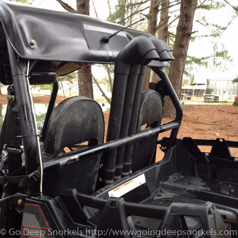 Polaris RZR 800 (2008-2014) (Tall Stacks) Snorkel Kit - WWW.GOINGDEEPSNORKELS.COM
