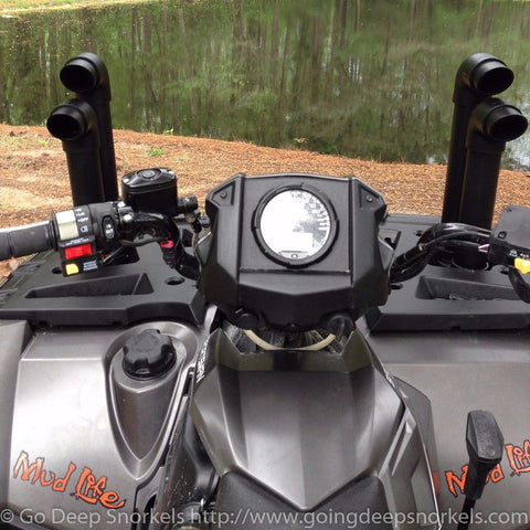 Polaris Sportsman 550/850 Snorkel Kit (2009-2016) - WWW.GOINGDEEPSNORKELS.COM