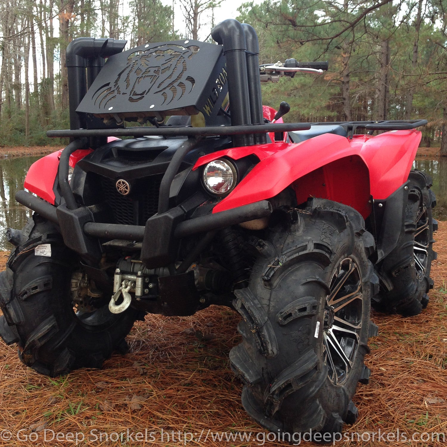 yamaha grizzly kodiak 700 2016 2017 snorkel kit go deep snorkels. Black Bedroom Furniture Sets. Home Design Ideas