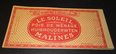 Wholesale Lot of 100 Old c.1950's Le Soleil SUN Brand - Can LABELS - Peas