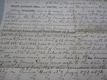 Old 1850 PIKE COUNTY Ohio LAND DEED - David Coudy to Benjamin DANIELS