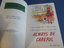 Old 1951 - SAFETY SUE - Childrens Safety Booklet - Presented by Coca Cola