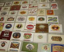Collection of 100 Old Antique - Inner CIGAR Box LABELS -  All Different
