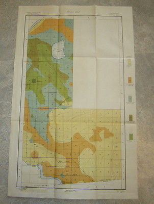 Original Old 1901 Alkali MAP - CALIFORNIA - IMPERIAL Sheet