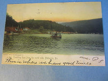 Old 1906 - Pottsville PA. - Tumbling Run from North Side - POSTCARD - BOAT