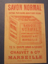 Old 1880's - Savon Normal - French TRADE CARD - SOAP - Marseille France