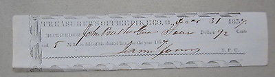 Old 1857 Treasurer's Office - PIKE COUNTY OHIO Tax Document - JOHN PRATHER