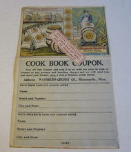 Old Vintage c.1900 - Gold Medal Flour - COOK BOOK COUPON - Washburn Crosby Co.