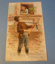 Old 1890 A.D. MILLER - LEWISBURG PA. Victorian Trade Card - ESTY ORGAN PIANO