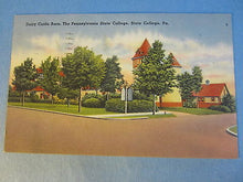 Old 1951 STATE COLLEGE PA. Penn State - DAIRY CATTLE BARN - POSTCARD