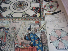 Old c.1895 Antique French  Game PRINT - Les Predictions de NOSTRADAMUS