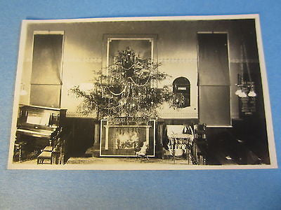 Old York PA. RPPC Real Photo POSTCARD - Christmas Tree - Church Interior