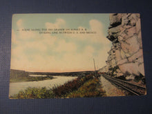 Old c.1910 - Scene Along the Rio Grande - Sunset RAILROAD -  POSTCARD