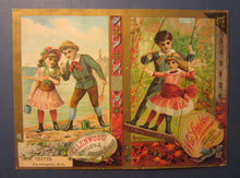 1880's GLENWOOD Ranges Trade Card Weir Stove Co. / W.F. Thayer Farmington N.H.