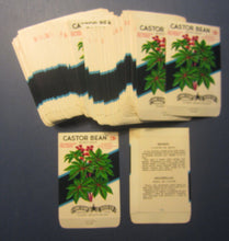 Wholesale Lot of 100 Old Vintage - CASTOR BEAN SEED PACKETS - Poisonous - EMPTY