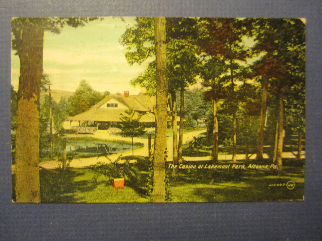 Old 1915 - ALTOONA PA. - Casino at LAKEMONT Park - POSTCARD