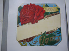 Lot of 10 Old Antique - RED ROSE - Stock - Outer CIGAR LABELS