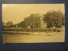 Old Vintage 1919 CHEYENNE WELLS COLORADO RPPC Real Photo POSTCARD - Court House