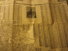 Old Vintage c.1930's Lyon Storage Moving Co. MAP - Oakland Berkeley Alameda CA.