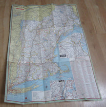 Old Vintage 1962 NEW ENGLAND Hotel Assoc. MAP - Heritage Trail - Travel Brochure