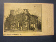 Old 1909 - LEWISBURG PA. - HIGH SCHOOL - POSTCARD -