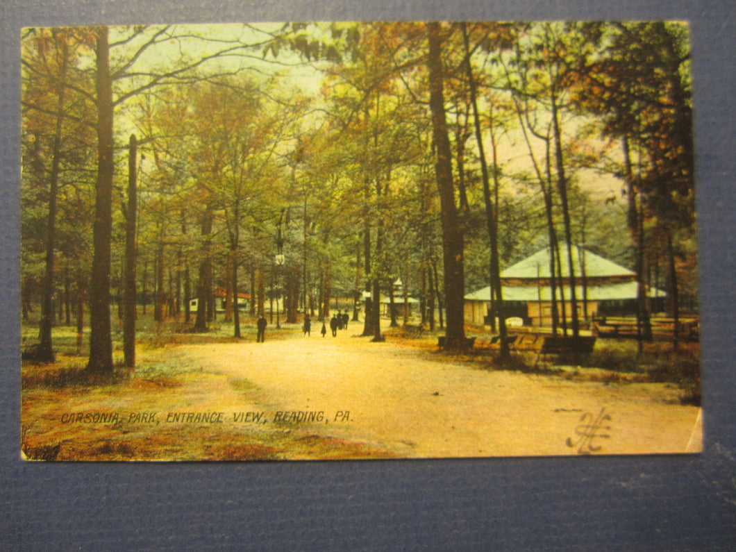 Old 1907 READING PA. - Carsonia Park - POSTCARD - Womelsdorf Postmark