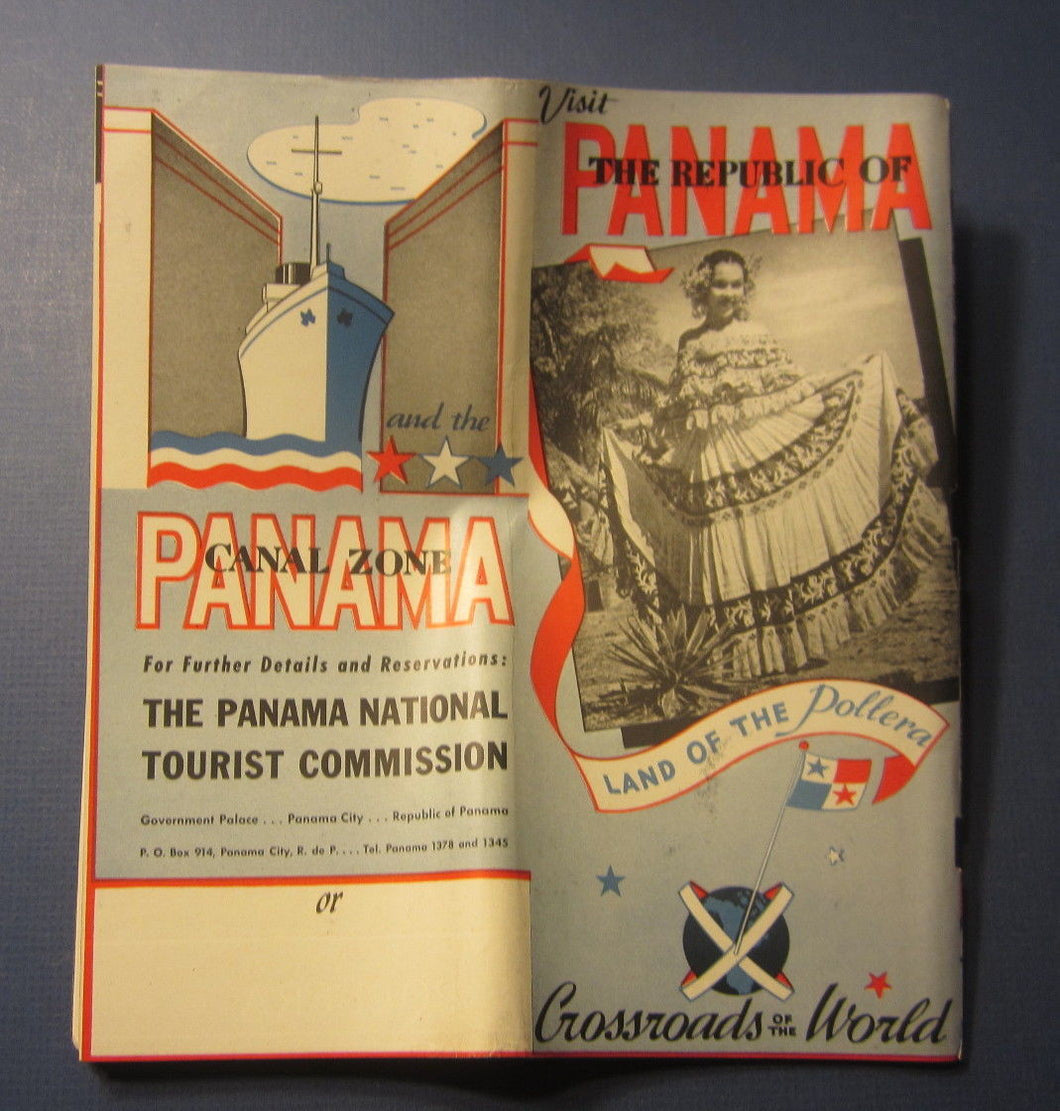 Old Vintage 1944 - Republic of PANAMA - Travel Brochure - Panama Canal Zone