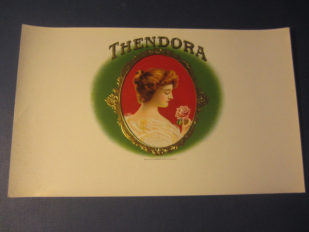 Original Old Antique - THENDORA - Inner CIGAR LABEL