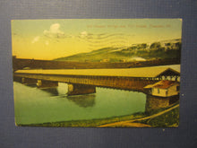 Old Vintage 1911 - TOWANDA PA. Covered Wagon Bridge & Toll House - POSTCARD