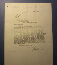 1929 WHEELING & LAKE ERIE RAILWAY Letterhead Document - Signed DUNCAN - Chairman
