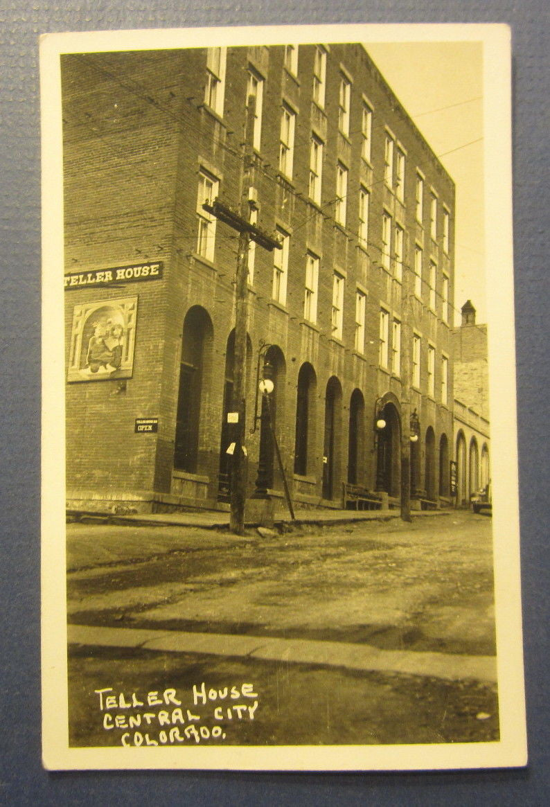 Old Vintage 1945 CENTRAL CITY COLORADO - Teller House - RPPC Real Photo POSTCARD