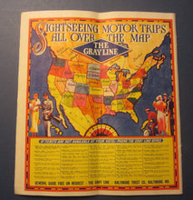 Old Vintage c.1930's - SEEING WASHINGTON - Gray Line Motor / BUS Travel Brochure