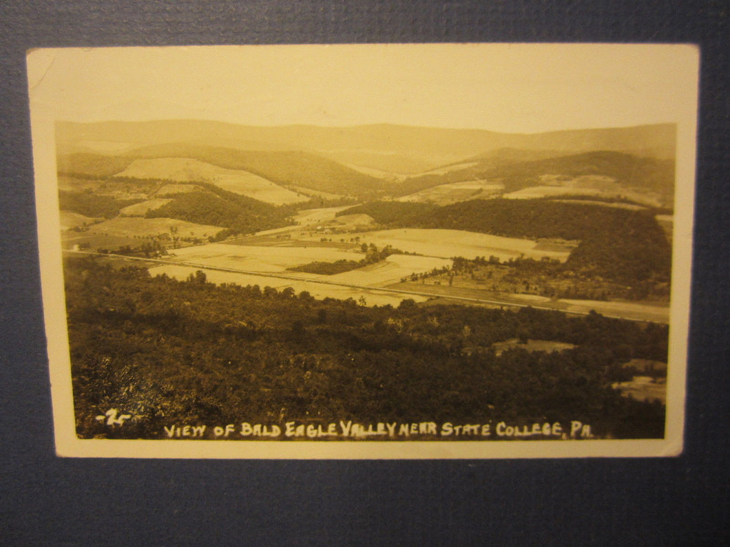 Old Vintage 1941 STATE COLLEGE PA. Bald Eagle Valley - RPPC Photo POSTCARD