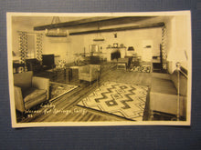 Old Vintage WARNER HOT SPRINGS CA. - Lobby - RPPC - Real Photo POSTCARD