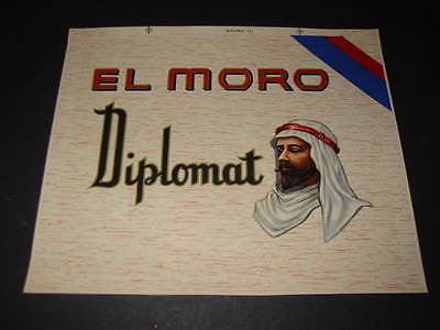 Original Old El Moro - CIGAR Box INNER LABEL - ARAB