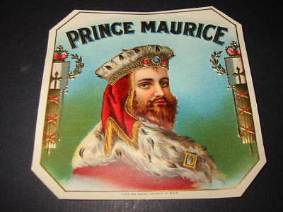 Original Old - PRINCE MAURICE - Outer Cigar Box Label